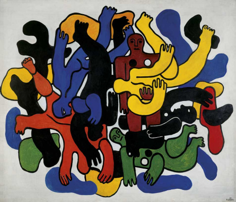 Fernand Leger. Black divers