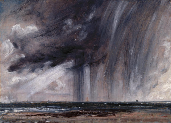 John Constable. Marine view with storm clouds (Rain over the sea)