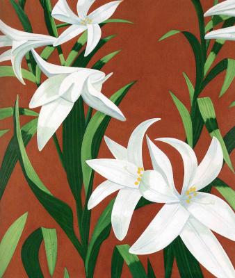 Alex Katz. White lilies