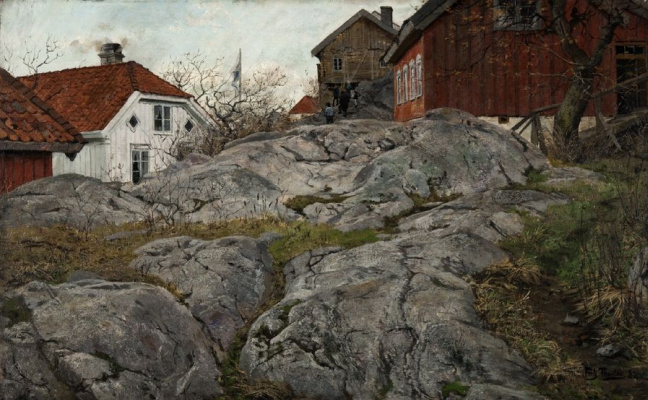 Frits Thaulow. The Island Of Kragero (Cliffs)