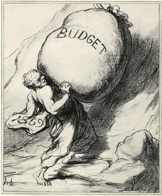 Honore Daumier. Eternal burden