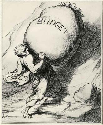 Honore Daumier. Eternal burden