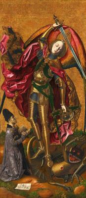 Bartolomé Bermejo. Saint Michael Triumphs over the Devil