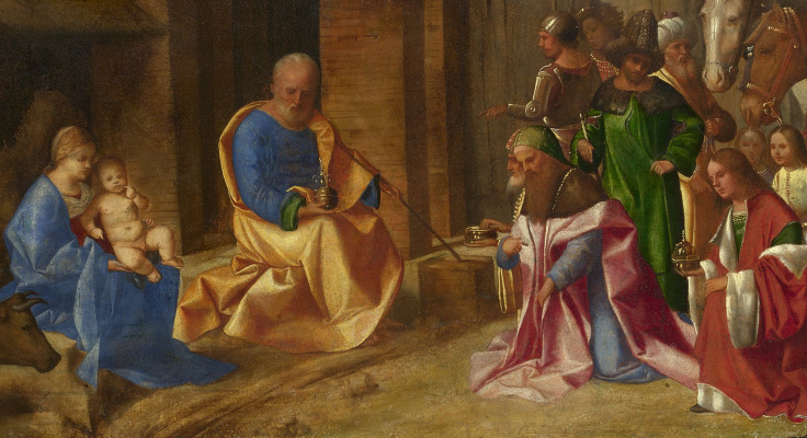 Giorgione. Adoration of the Magi. Fragment