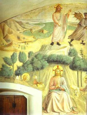 Фра Беато Анджелико. Искушение Христа. Фреска монастыря Сан Марко, Флоренция