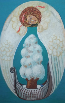 Rostislav Nikolaevich Ivanov. Angel with the Ark of the Seasons - Winter