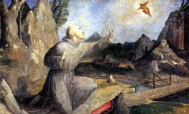 Domenico Beccafumi. St. Francis receiving the stigmata
