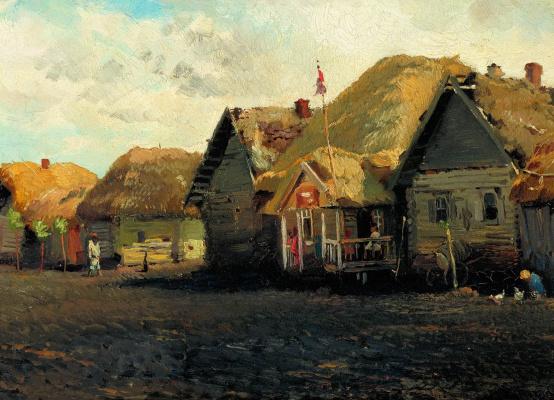 Konstantin Makovsky. Rural landscape