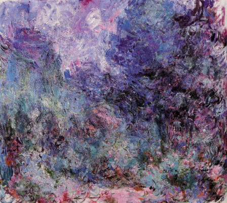 Claude Monet. The house view from the rose garden