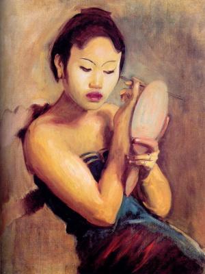 John Singer Sargent. Javanese girl before a mirror