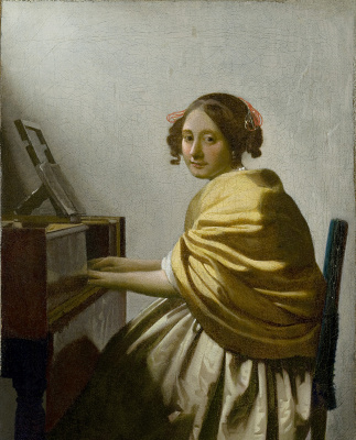 Jan Vermeer. A young woman seated at the virginal