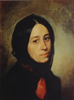 Nikolai Vasilyevich Nevrev. Portrait of M. I. Tretyakova Circa 1860