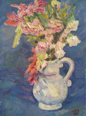 "Anna Valerievna Dolganova. Still life ""Harmony of blue"""