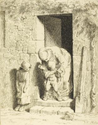 Jean-François Millet. Maternal forethought