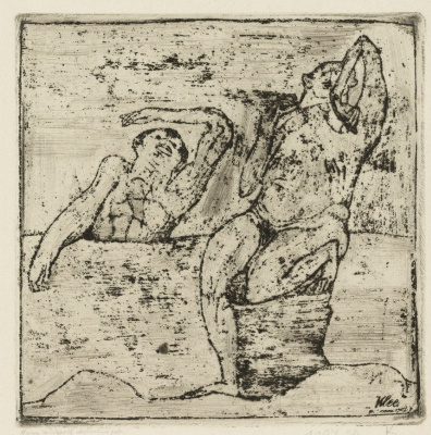 Paul Klee. Two Nudes in the Lake