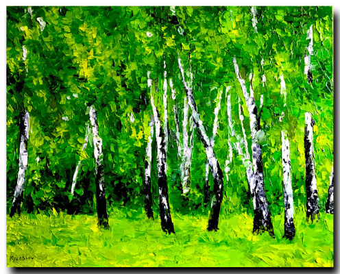 Yury Semenovich Kuleshov. Birch Grove
