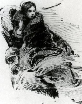Михаил Александрович Врубель. Дама в мехах