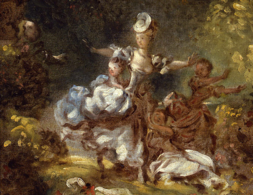 "Jean Honore Fragonard. Sketch for ""Persecution"""