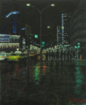Andrew Lumez. Evening Arbat
