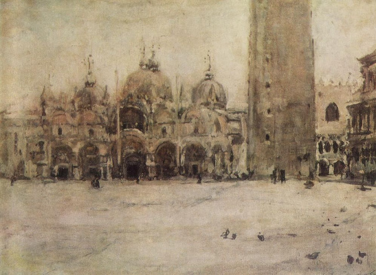 Valentin Aleksandrovich Serov. St. Mark's square in Venice