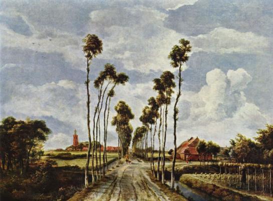Maydert Hobbema. Alley in Middelharnis