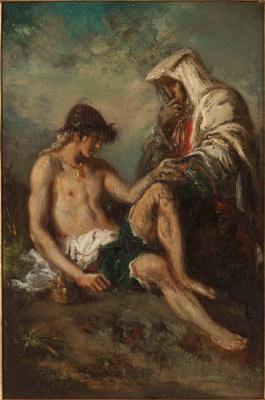 Gustave Moreau. Childhood of Sixtus V