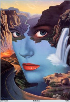Джим Уоррен. Горы и водопад