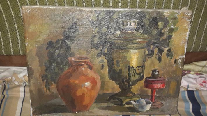 Лидия Леонтьевна Егорова. Натюрморт с керосиновой лампой