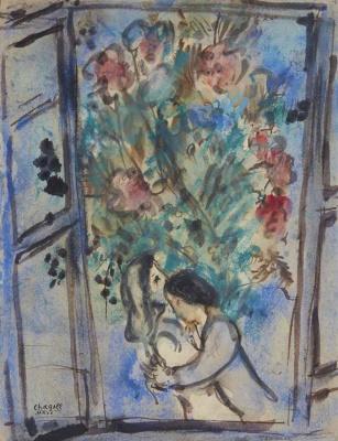Марк Захарович Шагал. Влюбленные в окне