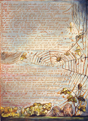 "William Blake. In the web. Illustration for the poem ""Europe: a prophecy"""