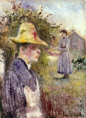 Edvard Munch. Sisters in the garden