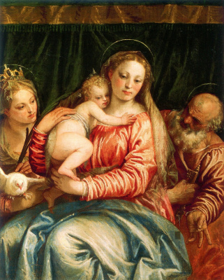Paolo Veronese. Madonna and Child with Saint Peter