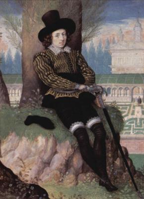 Иссак  Оливер. Мужской портрет