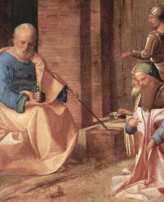 Джорджоне. Поклонение волхвов, деталь: Иосиф и два волхва
