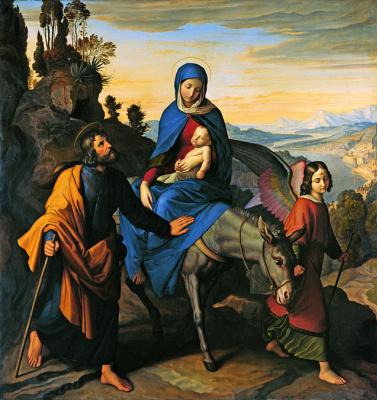 Юлиус Шнорр фон Карольсфельд. Бегство в Египет