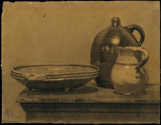 Willem de Kuning. Still life (Bowl, pitcher and mug)
