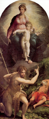 Франческо Пармиджанино. Видение святого Иеронима
