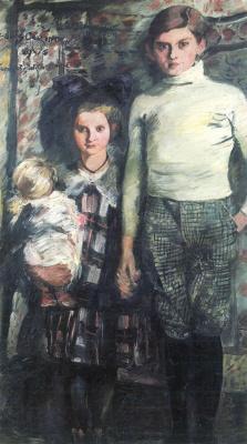 Lovis Corinto. Thomas and Wilhelmina (child artist)