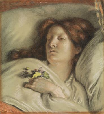 Форд Мэдокс Браун. Выздоравливающая. Портрет жены художника
