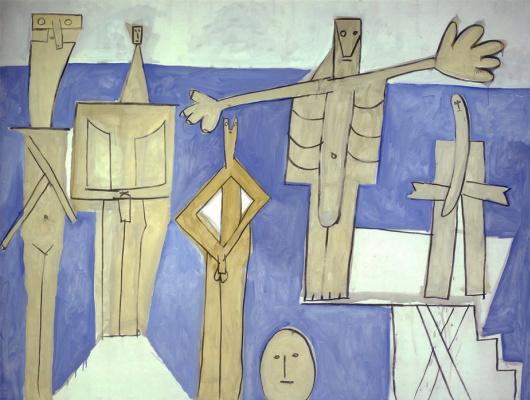 Пабло Пикассо. Купальщики в Ла Гаруп