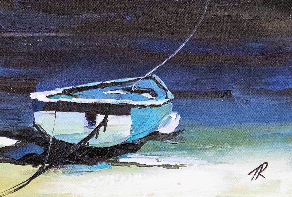 Jose Rodriguez. A boat. On the Mediterranean coast N3