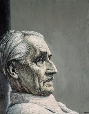 Ivan Stepanovich Marchuk. Portrait of the artist Roman Rural