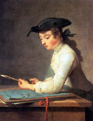 Jean Baptiste Simeon Chardin. The young painter