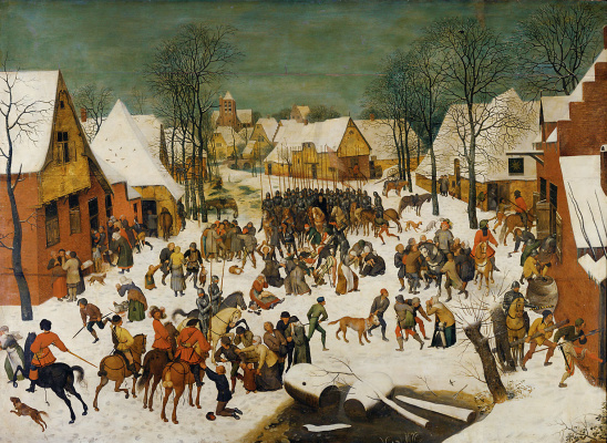 Peter Brueghel The Younger. Winter landscape with the massacre of the innocents
