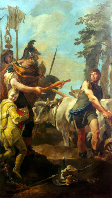 Giovanni Battista Tiepolo. Cincinnatus's call to dictatorial power