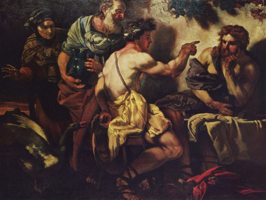 Johann Carl Lot. Jupiter and mercury at Philemon and Beskidy