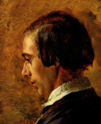 Adolf Friedrich Erdmann von Menzel. Portrait of the artist's brother Richard