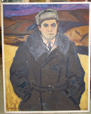 Yuri Ivanovich Khudonogov. Portrait of the Director of the farm.