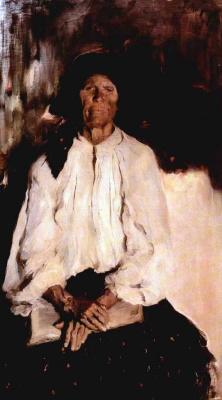 Philip Andreevich Malyavin. Old. Portrait Of Darya Ivanovna Tatarintseva