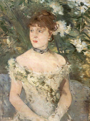 Berthe Morisot. Young girl in ball gown